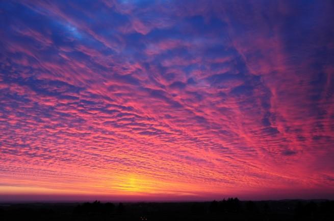 Solnedgang sett fra Tinghaug i Klepp 15.05.2013 kl